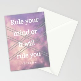 Rule your mind Stationery Cards