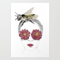 Save The Bees Save The World Art Print