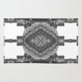 Architecture psychedelic b&w Rug
