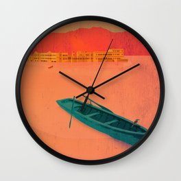 Vintage Travel Poster - Upaipur / India Wall Clock