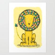 Rainbow Lion Art Print