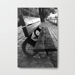 shot on iphone .. potterierei bench Metal Print