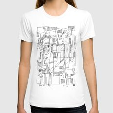 Conversation White Womens Fitted Tee LARGE