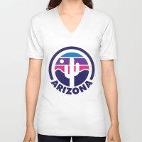arizona V-neck T-shirts featuring Arizona by Lopez91