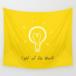 Light of the World - yellow Wall Tapestry