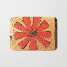Red daisy Bath Mat