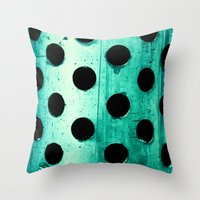 polka dots Throw Pillows featuring Polka dots by Elisabeth Fredriksson