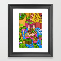 SMW World 2 Framed Art Print