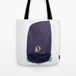 A Journey (a boat on rough seas) Tote Bag