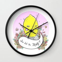 Earl of Lemongrab Tribute Wall Clock