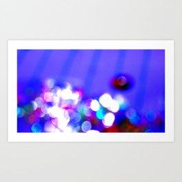 Blue Pink Purple Glitter Bokeh  Art Print