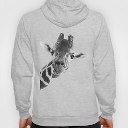 Giraffe Portrait // Grey Wild Animal Cute Zoo Safari Madagascar Wildlife Nursery Decor Ideas Hoody