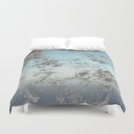 Blue gray abstract pattern Duvet Cover