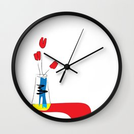 Red tulips Wall Clock