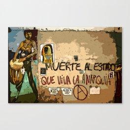 Muerte Al Estado Canvas Print