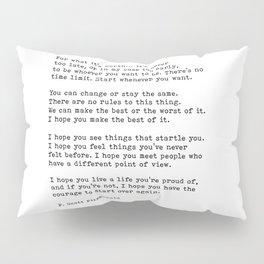 For what it's worth -  F Scott Fitzgerald Pillow Sham