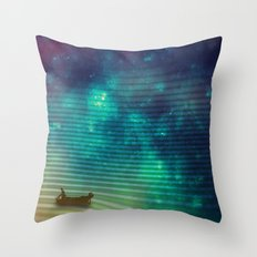 The Space Fisherman Throw Pillow