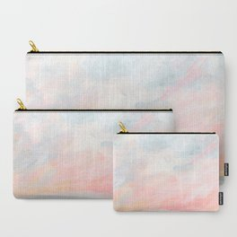 Overwhelm - Pink and Gray Pastel Seascape Carry-All Pouch