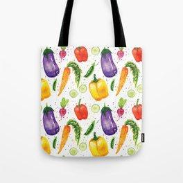 Very Veggie Pattern Tote Bag