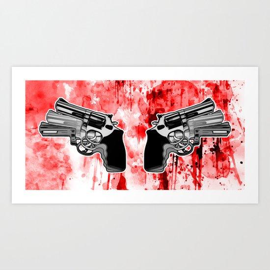 Double Triple (revolver) Art Print