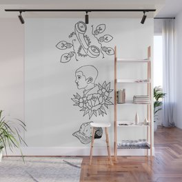 Science Fiction Character Illustration Wall Mural