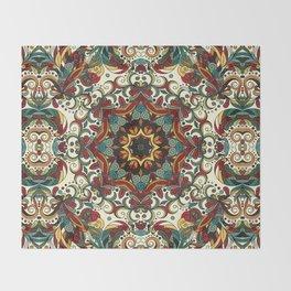 Boho Mandela Pattern 29 Throw Blanket