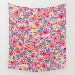 Little Peachy Poppy Garden Wall Tapestry