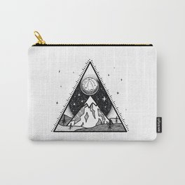 Moon Mountain White Carry-All Pouch