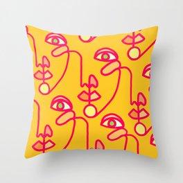 Multi Faced Pink Lemonade Throw Pillow