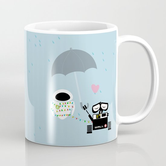 True love walle and eve coffee mug by studiomarshallarts society6 - Walle and eve mugs ...