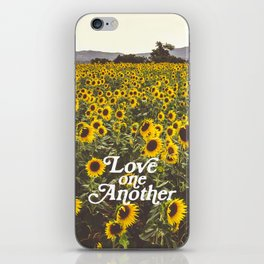Love One Another Sunflowers iPhone Skin