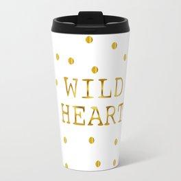 Wild Heart Gold Travel Mug