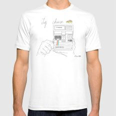 Say Cheese MEDIUM White Mens Fitted Tee