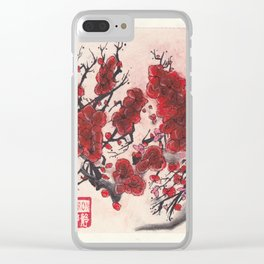 Red Cherry Blossoms (1 of 3) Clear iPhone Case