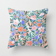 Nonchalant Coral Throw Pillow