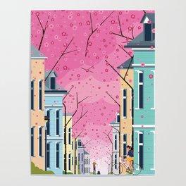 Aldstadt, Bonn ft. Cherry Blossom Poster