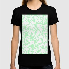 Spots - White and Light Green T-shirt