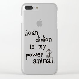 joan didion is my power animal Clear iPhone Case