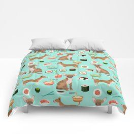 chihuahua sushi dog lover pet gifts cute pure breed chihuahuas Comforters