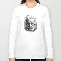 einstein Long Sleeve T-shirts featuring Einstein by Jaume Tenes