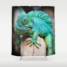 Gecko Reptile Photography Shower Curtain