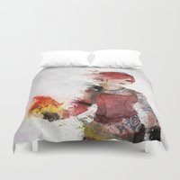 borderlands Duvet Covers featuring Lilith by Melissa Smith