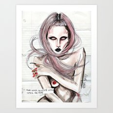 LADY, FAME HOOK*R   Art Print