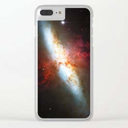 Galaxial Hydrogen Plumes Clear iPhone Case