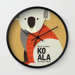 Hello Koala Wall Clock