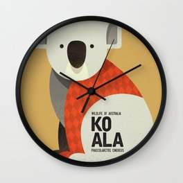 Hello Koala Wall Clock