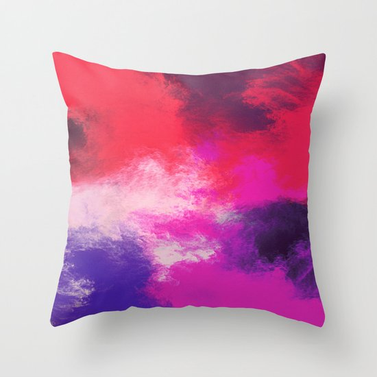 Painted Clouds Throw Pillow