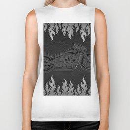 Motorcycle & Silver Flames Biker Tank