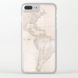 North And South America 1777 Clear iPhone Case