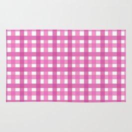 Pink Picnic Cloth Pattern Rug